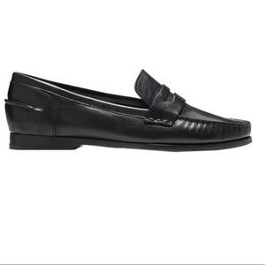 COLE HAAN BLACK PINCH LOAFER LAMBSKIN LEATHER 10
